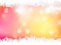 Fundo cor-de-rosa do Natal com flocos da neve. EPS 10 ilustração do vetor