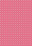 Fundo cor-de-rosa do ponto de polca Fotografia de Stock Royalty Free