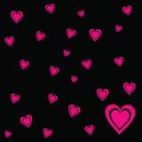 Fundo cor-de-rosa do preto do vetor do Valentim do coração Fotos de Stock Royalty Free