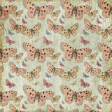 Fundo cor-de-rosa do teste padrão da repetição das borboletas Foto de Stock Royalty Free