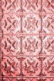 Fundo cor-de-rosa do teste padrão do coração Fotografia de Stock Royalty Free