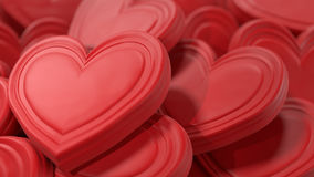 Fundo cor-de-rosa dos corações do chocolate Fotografia de Stock Royalty Free