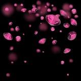 Fundo cor-de-rosa dos diamantes Imagens de Stock Royalty Free