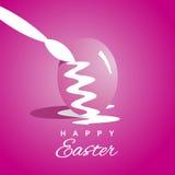 Fundo cor-de-rosa dos ovos da páscoa da coloração ilustração royalty free