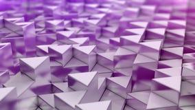 Fundo cor-de-rosa dos triângulos Imagens de Stock Royalty Free