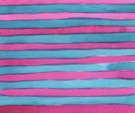 Fundo cor-de-rosa e azul com textura da aquarela das listras com cursos da escova ilustração do vetor