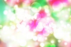 Fundo cor-de-rosa e branco do bokeh, sumário da cor do amor Fotografia de Stock Royalty Free