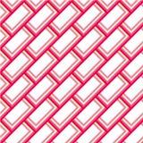 Fundo cor-de-rosa e branco do teste padrão Imagem de Stock