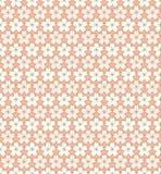 Fundo cor-de-rosa e dourado do vintage sem emenda do esboço da flor de cerejeira de flor do teste padrão Fotografia de Stock Royalty Free