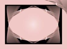 Fundo cor-de-rosa e preto ilustração royalty free