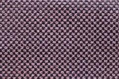 Fundo cor-de-rosa e preto de matéria têxtil com teste padrão da xadrez, close up Estrutura do macro da tela imagem de stock royalty free