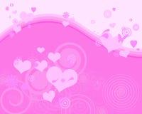 Fundo cor-de-rosa encantador Ilustração Royalty Free