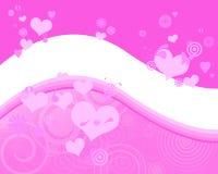 Fundo cor-de-rosa encantador Ilustração Stock