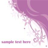 Fundo cor-de-rosa floral ilustração stock