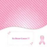 Fundo cor-de-rosa na fita do câncer da mama de linha-à-dia Foto de Stock
