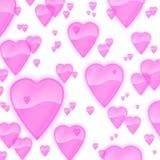 Fundo cor-de-rosa opaco claro dos corações Imagens de Stock Royalty Free