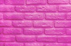 Fundo cor-de-rosa plástico dos tijolos Textura na moda moderna fotos de stock