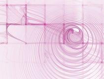 Fundo cor-de-rosa quadrado abstrato no branco Imagens de Stock Royalty Free