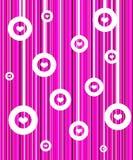 Fundo cor-de-rosa retro ilustração royalty free