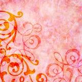 Fundo cor-de-rosa rosado com redemoinhos coloridos Fotografia de Stock Royalty Free