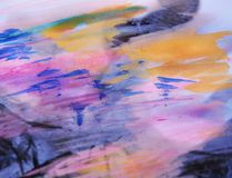 Fundo cor-de-rosa violeta da aquarela Foto de Stock