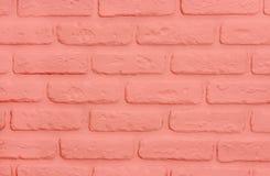 Fundo coral de vida dos tijolos Textura na moda moderna fotos de stock royalty free
