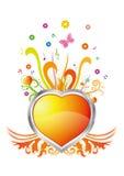 fundo cordiform e floral Imagem de Stock Royalty Free