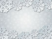 Fundo cortado brilhante do vetor do Livro Branco do inverno fotos de stock royalty free