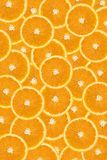 Fundo cortado das laranjas Imagens de Stock Royalty Free