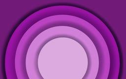 Fundo cortado de papel roxo do sumário com formas do círculo Ilustração moderna da quadriculação para o projeto de conceito ilustração royalty free
