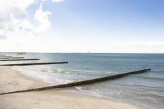 Fundo, costa de mar Báltico, mar, beach1 foto de stock royalty free