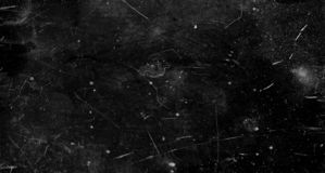 Fundo cratched preto do grunge, efeito velho do filme para o texto imagem de stock royalty free