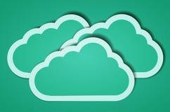Fundo creativo da nuvem do computador. ilustração Imagem de Stock Royalty Free