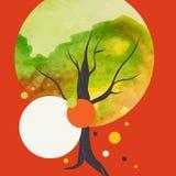 Fundo creativo do outono ilustração do vetor