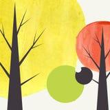 Fundo creativo do outono ilustração royalty free