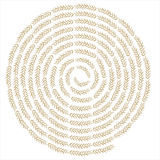 Fundo creativo do redemoinho do trigo Imagem de Stock