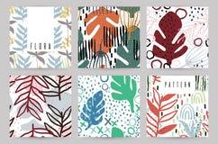 Fundo criativo com elementos florais e texturas diferentes collage Projeto para o cartaz, cartão, convite, cartaz, folheto, ilustração stock