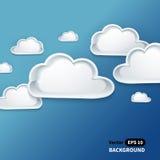 Fundo criativo da nuvem para seu negócio Ilustração do Vetor