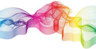 Fundo criativo da onda colorida ilustração royalty free