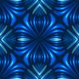fundo 3d abstrato floral sem emenda azul ilustração do vetor