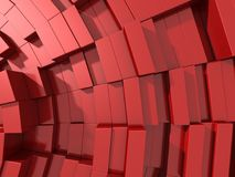fundo 3d abstrato vermelho dos cubos Imagem de Stock