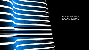 fundo 3d arquitectónico ilustração abstrata do vetor projeto 3D futurista abstrato para a apresentação do negócio Fotografia de Stock Royalty Free