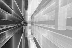 fundo 3d arquitetónico com tiras e linhas do cinza Fotografia de Stock