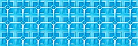 Fundo 3d azul com uma grade sobre as formas quadradas - sem emenda Imagem de Stock