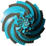Fundo 3D cúbico abstrato ilustração stock