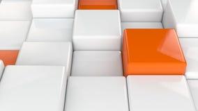 Fundo 3D cúbico abstrato Imagem de Stock