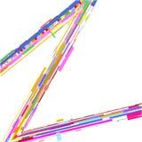 Fundo 3D colorido abstrato moderno de formas geométricas das formas ilustração stock