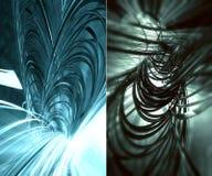 fundo 3D futurista Fotografia de Stock