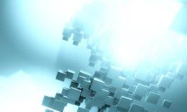fundo 3D futurista Imagem de Stock