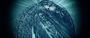 fundo 3D futurista Foto de Stock Royalty Free